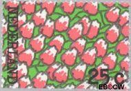 Nederland NL 1025#  1973 Bloeiend tulpenveld  cent  Gestempeld