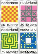 Nederland NL 1038#1041  1973 Spelletjes  cent  Gestempeld