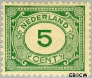 Nederland NL 107  1922 Cijfer type 'Vürtheim' 5 cent  Gestempeld