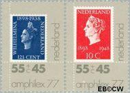 Nederland NL 1139-1140  1977 Postzegeltentoonstelling Amphilex '77  cent  Postfris