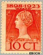 Nederland NL 124  1923 Koningin Wilhelmina- Regeringsjubileum 10 cent  Gestempeld