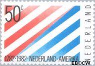 Nederland NL 1266  1982 Betrekkingen Nederland-U.S.A. 50 cent  Gestempeld