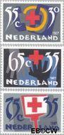 Nederland NL 1381#1383  1987 Rode Kruis- Activiteiten  cent  Gestempeld