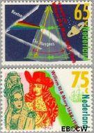 Nederland NL 1406#1407  1988 William & Mary  cent  Gestempeld