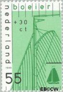 Nederland NL 1424  1989 Schepen 55+30 cent  Gestempeld