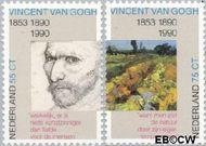 Nederland NL 1442#1443  1990 Gogh, Vincent van   cent  Gestempeld