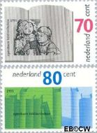 Nederland NL 1481#1482  1991 Bibliotheken  cent  Gestempeld