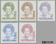 Nederland NL 1488a#1495a  1991 Koningin Beatrix- Type 'Inversie'  cent  Postfris