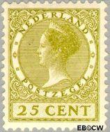 Nederland NL 157  1924 Koningin Wilhelmina- Type 'Veth' 25 cent  Gestempeld