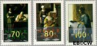 Nederland NL 1664#1666  1996 Vermeer, Johannes  cent  Postfris