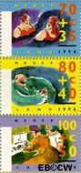 Nederland NL 1673#1675  1996 Ouderen  cent  Gestempeld