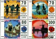 Nederland NL 1678#1681  1996 Vakantie  cent  Gestempeld