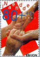 Nederland NL 1722  1997 Helpende handen 80+40 cent  Gestempeld