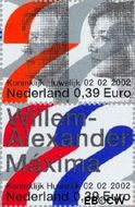 Nederland NL 2046a#2046b  2002 Koninklijk Huwelijk  cent  Gestempeld