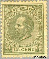 Nederland NL 22  1875 Koning Willem III- 5e emissie 12½ cent  Gestempeld