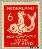 Nederland NL 227  1929 Kind op dolfijn 6+4 cent  Gestempeld