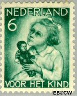 Nederland NL 272  1934 Kind met pop 6+4 cent  Gestempeld