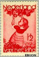 Nederland NL 279  1935 Appelplukkend meisje 1½+1½ cent  Gestempeld