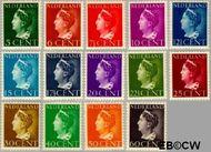 Nederland NL 332#345  1940 Wilhelmina- Type 'Konijnenburg'   cent  Gestempeld