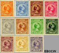 Nederland NL 34#44  1891 Koningin Wilhelmina- 'Hangend haar'  cent  Gestempeld
