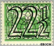 Nederland NL 363  1940 Cijfer type 'Guilloche' of ' tralie' 22½ cent  Gestempeld