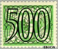 Nederland NL 373  1940 Cijfer type 'Guilloche' of ' tralie' 500 cent  Gestempeld