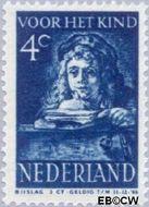 Nederland NL 399  1941 Schilderij Rembrandt 4+3 cent  Gestempeld