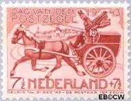 Nederland NL 422  1943 Dag van de Postzegel 7½+7½ cent  Gestempeld