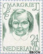 Nederland NL 455  1946 Prinsessen 2½+1½ cent  Postfris