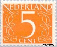 Nederland NL 465b  1967 Cijfer type van Krimpen 5 cent  Gestempeld