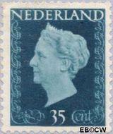 Nederland NL 485  1947 Koningin Wilhelmina- Type 'Hartz' 35 cent  Gestempeld