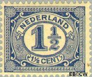 Nederland NL 52  1908 Cijfer type 'Vürtheim' 1½ cent  Gestempeld