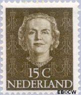 Nederland NL 523  1949 Koningin Juliana- Type 'En Face' 15 cent  Postfris