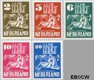 Nederland NL 556#560  1950 Kerken in Oorlogstijd   cent  Gestempeld