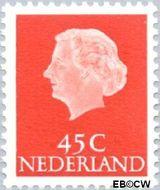 Nederland NL 628  1953 Koningin Juliana- Type 'En Profile' 45 cent  Gestempeld