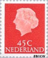 Nederland NL 628b  1967 Koningin Juliana- Type 'En Profile' 45 cent  Postfris