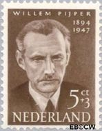 Nederland NL 642  1954 Bekende personen 5+3 cent  Gestempeld