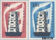 Nederland NL 681#682  1956 Europa in de stijgers  cent  Gestempeld