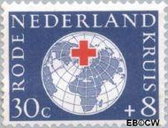 Nederland NL 699  1957 Rode Kruis 30+8 cent  Gestempeld