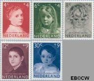 Nederland NL 702#706  1957 Meisjesportretten   cent  Gestempeld