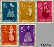 Nederland NL 707#711  1958 Klederdrachten   cent  Postfris