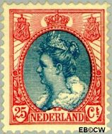 Nederland NL 71  1899 Koningin Wilhelmina- 'Bontkraag' 25 cent  Gestempeld