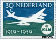 Nederland NL 730  1959 K.L.M. 30 cent  Gestempeld