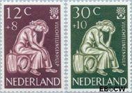 Nederland NL 736#737  1960 Int. Vluchtelingenjaar   cent  Gestempeld