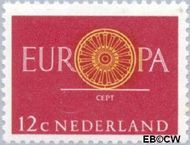 Nederland NL 745  1960 C.E.P.T.- Spaakwiel 12 cent  Gestempeld