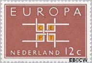 Nederland NL 800  1963 C.E.P.T.- Vierkant 12 cent  Gestempeld