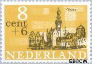 Nederland NL 842  1965 Steden 8+6 cent  Postfris