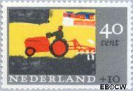Nederland NL 853  1965 Kindertekeningen 40+10 cent  Gestempeld