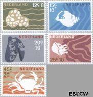 Nederland NL 877#881  1967 Strandvondsten  cent  Gestempeld