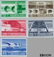 Nederland NL 901#905  1968 Bruggen  cent  Gestempeld